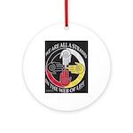 We Are A Strand Logo (black) Ornament (round)