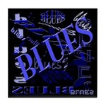 Blues on Blue Tile Coaster