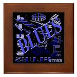 Blues on Blue Framed Tile