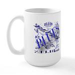 Blues on Blue Large Mug