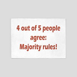 Majority Rules 5'x7'Area Rug