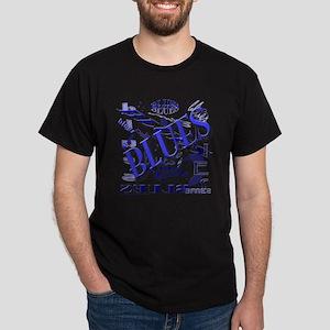 Blues on Blue Dark T-Shirt