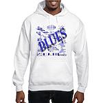 Blues on Blue Hooded Sweatshirt