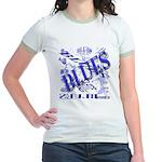 Blues on Blue Jr. Ringer T-Shirt
