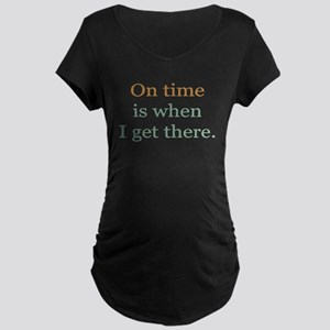 On Time Maternity Dark T-Shirt