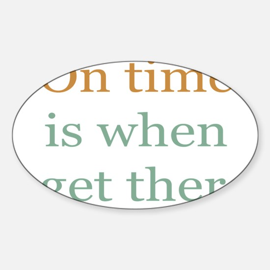 On Time Sticker (Oval)