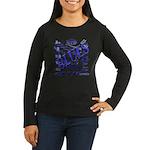 Blues on Blue Women's Long Sleeve Dark T-Shirt