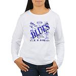 Blues on Blue Women's Long Sleeve T-Shirt