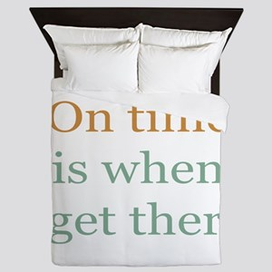 On Time Queen Duvet