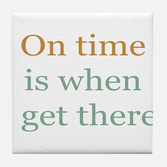 On Time Tile Coaster