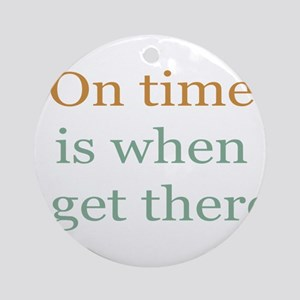 On Time Ornament (Round)