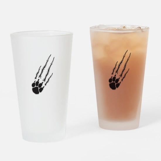 Bear Paw Rip Drinking Glass