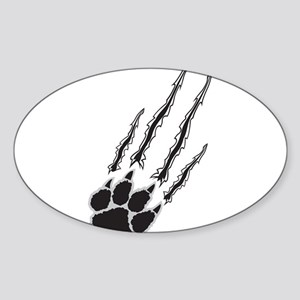 Bear Paw Rip Sticker (Oval)