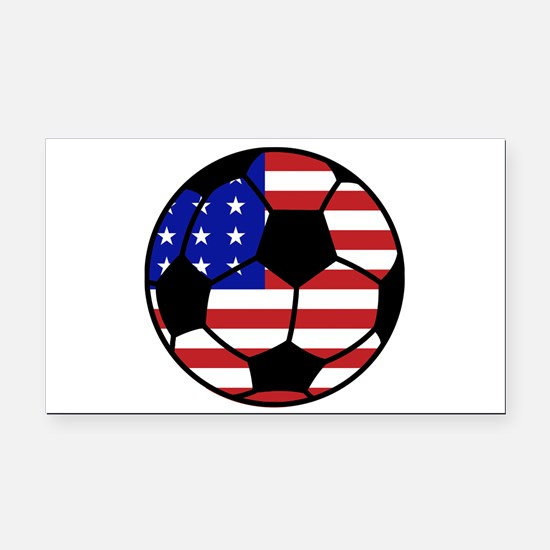 USA Soccer Rectangle Car Magnet