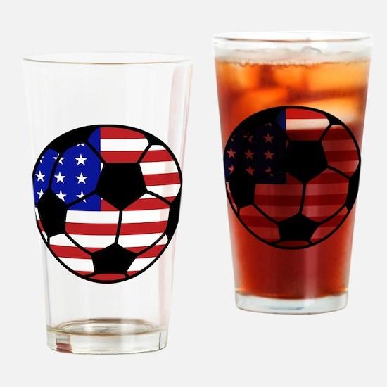 USA Soccer Drinking Glass