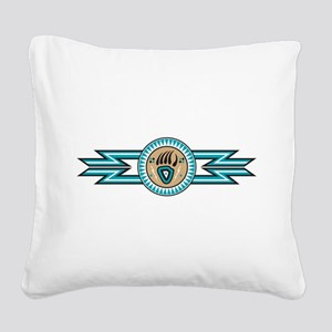 bear track Square Canvas Pillow