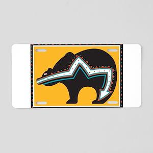 Indian Bear Aluminum License Plate