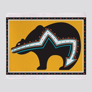 Indian Bear Throw Blanket