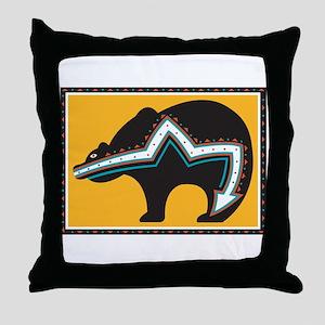 Indian Bear Throw Pillow