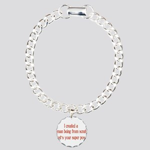 What's Your Super Power Charm Bracelet, One Charm