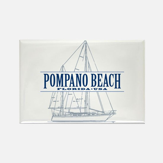 Pompano Beach - Rectangle Magnet