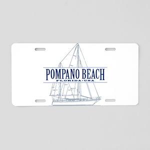 Pompano Beach - Aluminum License Plate