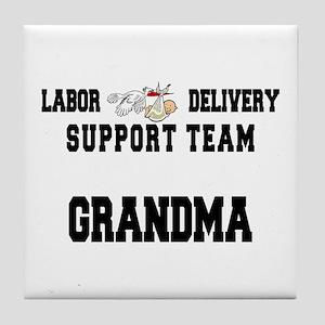 Labor Delivery Support Team Grandma Tile Coaster