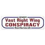 Bumper Sticker: Vast Right Wing Conspiracy