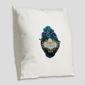 Libra Burlap Throw Pillow