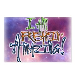 I AM FREAKIN AMAZING! Postcards (Package of 8)