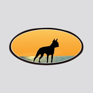 Boston Terrier Surfside Sunset Patches