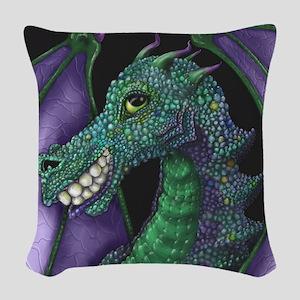 Grinning Dragon Woven Throw Pillow