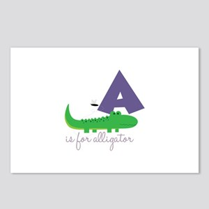 A Is For Alligator Postcards (Package of 8)