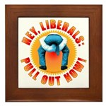 Anti liberal Pull Out Now Framed Tile