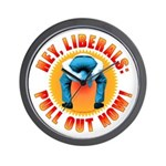 Anti liberal Pull Out Now Wall Clock