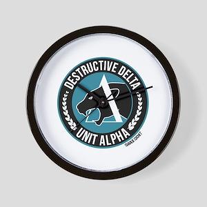 Destructive Delta logo Wall Clock