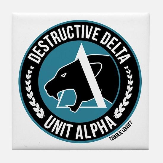 Destructive Delta Logo Tile Coaster