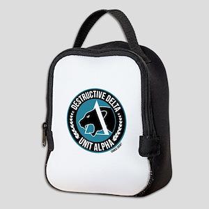 Destructive Delta logo Neoprene Lunch Bag