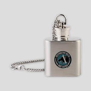Destructive Delta logo Flask Necklace
