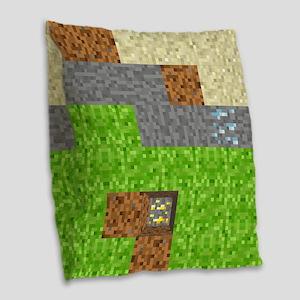 Pixel Art Play Mat Burlap Throw Pillow