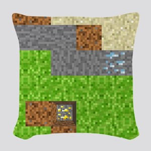 Pixel Art Play Mat Woven Throw Pillow