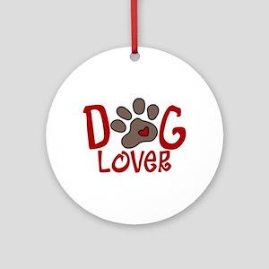 Dog Lover Ornament (Round)