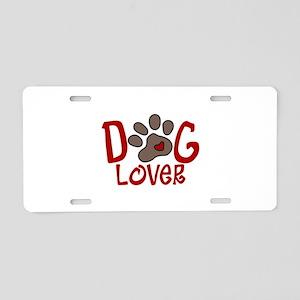 Dog Lover Aluminum License Plate