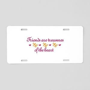 Friends Are Treasures Aluminum License Plate
