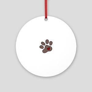 Puppy Paw Ornament (Round)