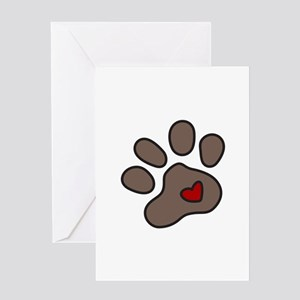 Puppy Paw Greeting Cards