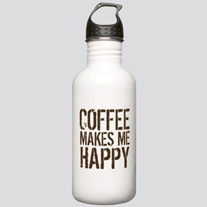 Coffee makes me happy Water Bottle