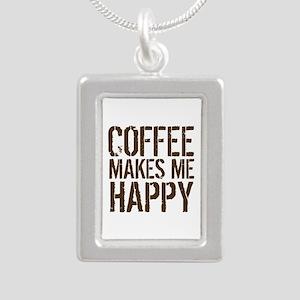 Coffee makes me happy Necklaces