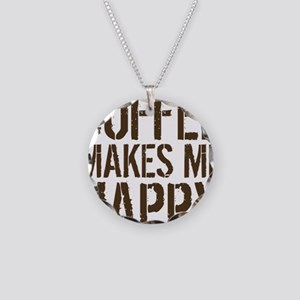 Coffee makes me happy Necklace