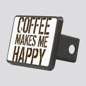 Coffee makes me happy Hitch Cover